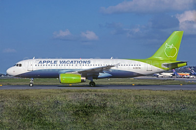 Apple Vacations (Ryan International Airlines) Airbus A320-231 G-BVYA (msn 354) (JMC Air colors) MBJ (Jacques Guillem Collection). Image: 930443.
