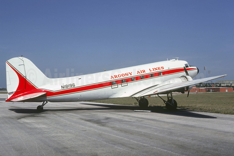 Argosy Air Lines Douglas C-49K-DO (DC-3) N18196 (msn 6326) (Shorter Airlines colors) FXE (Christian Volpati Collection). Image: 922660.