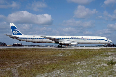 Arista International Airlines-AIA McDonnell Douglas DC-8-63PF N920CL (msn 46129) MIA (Bruce Drum). Image: 103208.