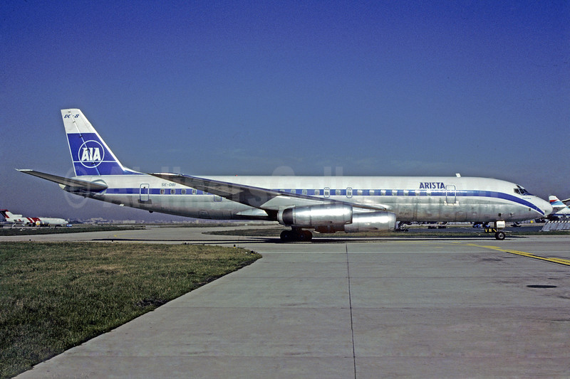 Arista International Airlines-AIA McDonnell Douglas DC-8-62CF SE-DBI (msn 46129) ORY (Christian Volpati). Image: 922053.