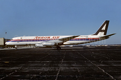 Arrow Air (2nd) McDonnell Douglas DC-8-62 N8974U (msn 46110) (United Airlines colors) MCO (Keith Armes). Image; 909563.