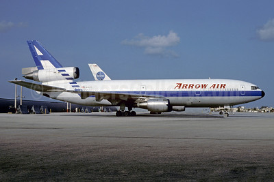 Arrow Air (2nd) McDonnell Douglas DC-10-10 N902CL (msn 46905) MIA (Bruce Drum). Image: 102566.