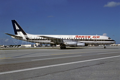 Arrow Air (2nd) McDonnell Douglas DC-8-62 N8973U (msn 46085) MIA (Bruce Drum). Image: 102568.