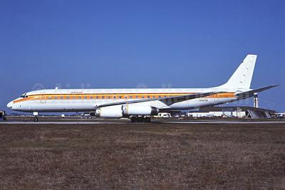 Arrow Air (2nd) McDonnell Douglas DC-8-62 N1809E (msn 46107) (Surinam Airways colors) MIA (Bruce Drum). Image: 102425.