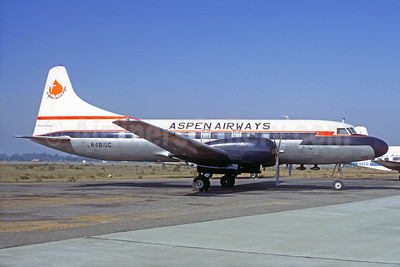 Aspen Airways Convair 440-38 N4815C (msn 117) (Delta colors) OAK (Christian Volpati Collection). Image: 933422.