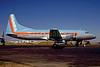 Aspen Airways Convair 580 N73104 (msn 4) (blue top, orange stripe) DEN (John B. Hayes). Image: 910256.