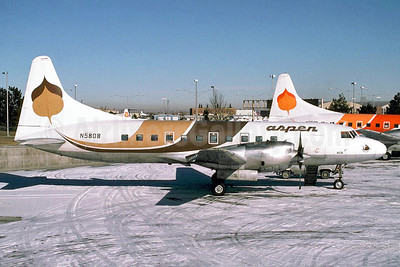 Aspen Airways Convair 580 N5808 (msn 348) DEN (Christian Volpati Collection). Image: 910252.