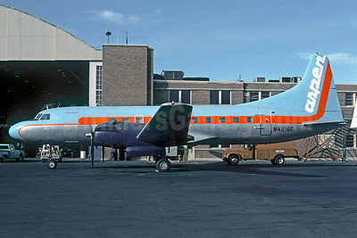 Aspen Airways Convair 440-38 N4816C (msn 118) (blue top, orange stripe) DEN (Christian Volpati Collection). Image: 910251.