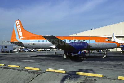 Aspen Airways Convair 440-38 N4813C (msn 106) (orange top) DEN (Christian Volpati Collection). Image: 910246.