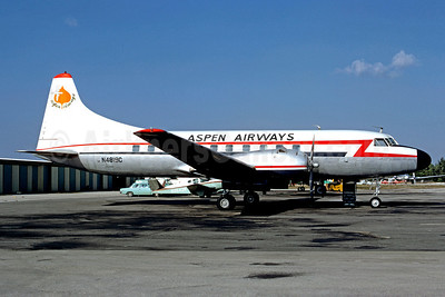 Aspen Airways Convair 340-38 N4819C (msn 138) (Glenn Aire colors) BUR (Christian Volpati Collection). Image: 910245.