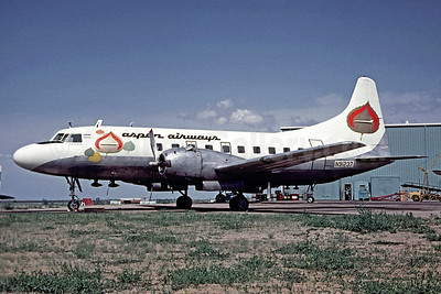 Aspen Airways Convair 240-13 N91237 (msn 140) (experimental color scheme) DEN (Christian Volpati Collection). Image: 910244.