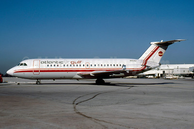 Atlantic Gulf Airlines BAC 1-11 203AE N1542 (msn 016) (Air Illinois colors) MIA (Bruce Drum). Image: 103344.