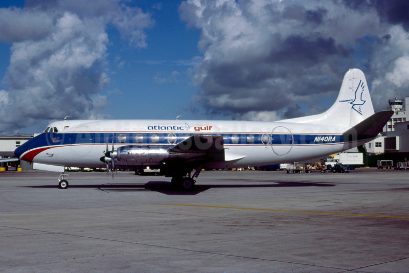 Atlantic Gulf Airlines-Go Air Vickers Viscount 745D N140RA (msn 191) MIA (Bruce Drum). Image: 103347.