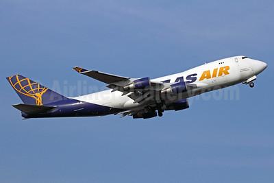 Atlas Air-QANTAS Airways Boeing 747-47UF N492MC (msn 29253) BKK (Michael B. Ing). Image: 911028.