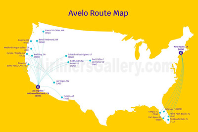 Avelo Airlines Route Map (May 2021)
