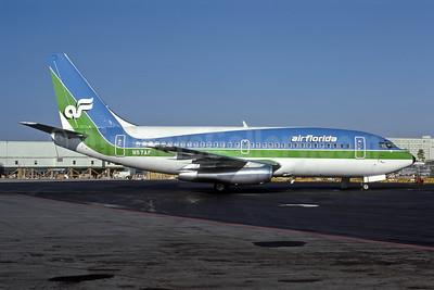 Air Florida (1st) Boeing 737-2T4 N57AF (msn 22370) MIA (Bruce Drum). Image: 105103.