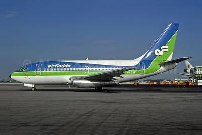 Air Florida (1st) Boeing 737-112 N40AF (msn 19769) MIA (Bruce Drum). Image: 105096.