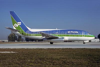 Air Florida (1st) Boeing 737-2T4 N53AF (msn 22054) MIA (Bruce Drum). Image: 102048.