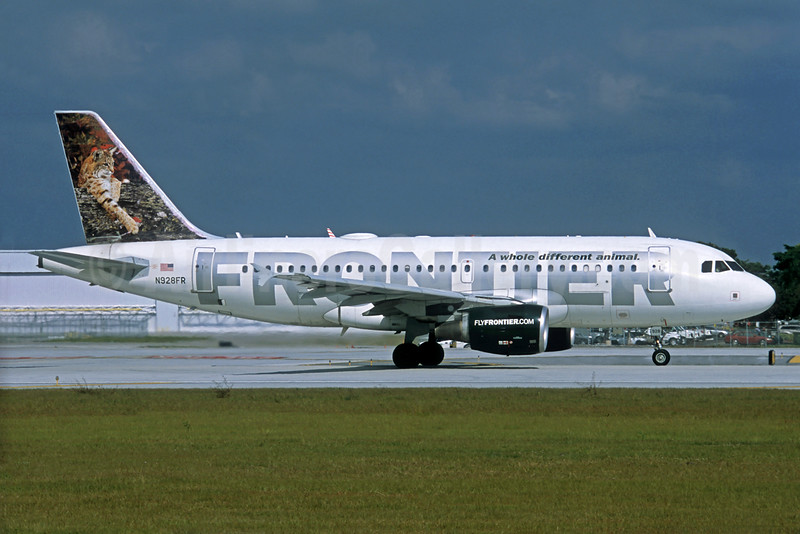 Frontier Airlines (2nd) Airbus A319-111 N928FR (msn 2236) (Bobcat) FLL (Christian Volpati Collection). Image: 932132.