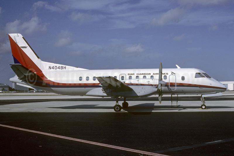 Bar Harbor Airlines SAAB 340A N404BH (msn 061) MIA (Bruce Drum). Image: 103021.