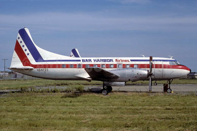 Bar Harbor Airlines Convair 600 N94233 (msn 63) BGR (Keith Armes). Image: 913598.