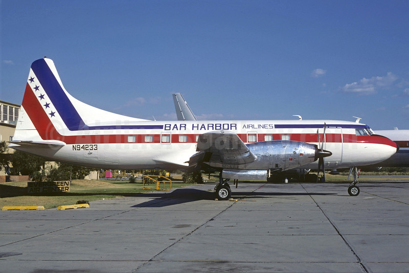 Bar Harbor Airlines Convair 600 N94233 (msn 63)  MZJ (Christian Volpati Collection). Image: 913599.
