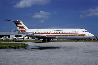 Braniff Airways (2nd) BAC 1-11 210AC EI-BWI (msn 007) (Florida Express colors) MIA (Bruce Drum). Image: 102574.