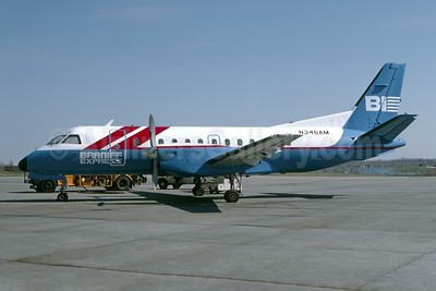 Braniff Express - Midcontinent Airlines (5th) SAAB 340A N346AM (msn 032) MCI (Denis Goodwin - Bruce Drum Collection). Image: 954805.