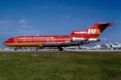 Braniff International Airways (1st) Boeing 727-191 N297BN (msn 19391) (Flying Colors-red) MIA (Bruce Drum). Image: 102312.