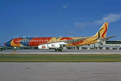 Braniff International Airways (1st) McDonnell Douglas DC-8-62 N1805 (msn 45899) (Alexander Calder - Flying Colors) MIA (Bruce Drum). Image: 101500.