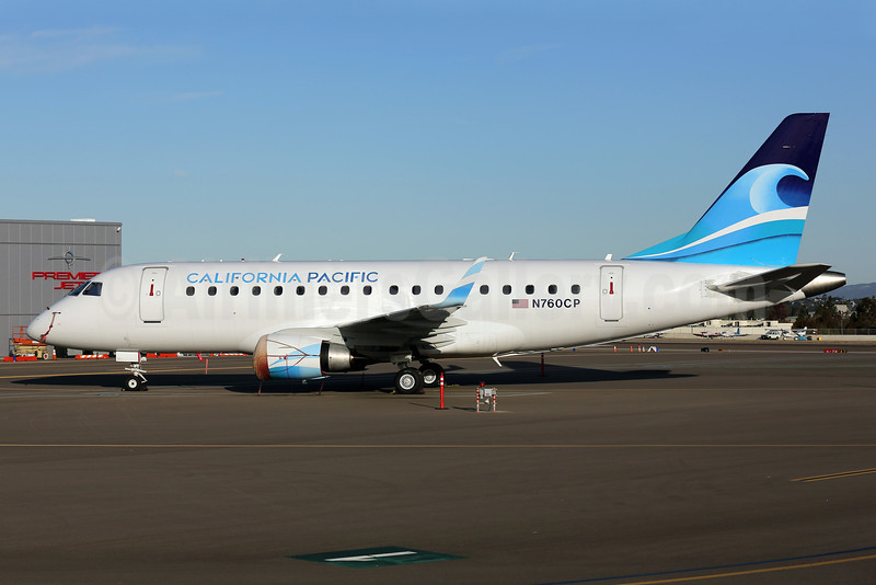 California Pacific Airlines Embraer ERJ 170-100LR N760CP (msn 17000006) CLD (James Helbock). Image: 911445.
