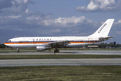 Capitol International Airways Airbus A300B4-203 D-AHLZ (msn 025) (Hapag-Lloyd colors) ORD (Dave Campbell). Image: 920953.