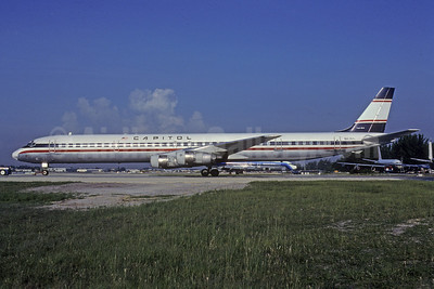 Capitol International Airways McDonnell Douglas DC-8-61 N8765 (msn 46016) MIA (Bruce Drum). Image: 103084.
