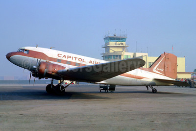 Capitol Airways Douglas DC-3-454 N31538 (msn 6317) LGB (Jacques Guillem Collection). Image: 921192.