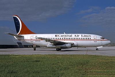 Carnival Air Lines Boeing 737-201 N202AU (msn 19419) MIA (Bruce Drum). Image: 101377.