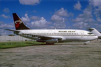 Miami Heat (Carnival Air Lines) Boeing 737-201 N206AU (msn 19422) MIA (Bruce Drum). Image: 103442.