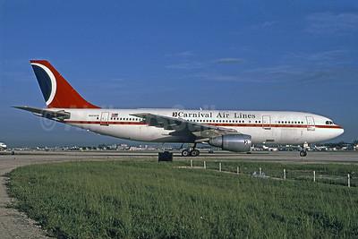 Carnival Air Lines Airbus A300B4-203 N224KW (msn 073) MIA (Bruce Drum). Image: 101381.