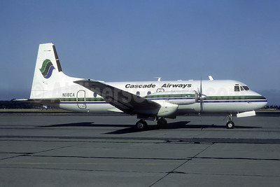 Cascade Airways Hawker Siddeley HS.748-2B/FAA N118CA (msn 1789) SEA (Bruce Drum). Image: 104683.