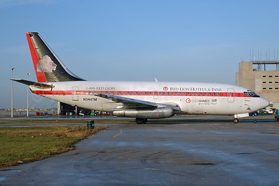 """Casino Express' """"Red Lions Hotels and Inns' promotional livery"""