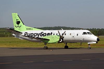 PuppySpot (Castle Aviation) SAAB 340B N346CJ (msn 346) HEF (Brian McDonough). Image: 954076.