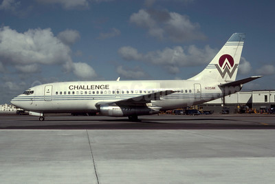 Challenge Air International Boeing 737-222 N135AW (msn 19940) (America West Airlines colors) MIA (Bruce Drum). Image: 105580.