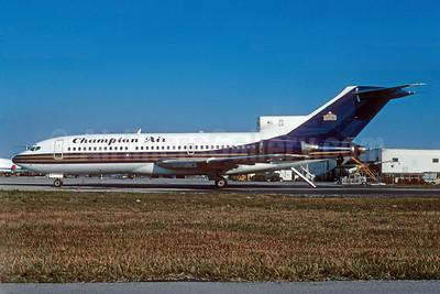 Champion Air - Denver Nuggets Boeing 727-191 N504MG (msn 19395)  (MGM Grand Air colors) MIA (Bruce Drum). Image: 103468.