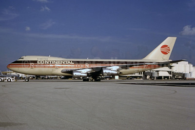 Continental Airlines Boeing 747-234B N605PE (msn 20520) (Peoplexpress colors) MIA (Bruce Drum). Image: 104838.