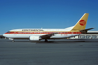 Continental Airlines Boeing 737-3T0 N17309 (msn 23360) OAK (Christian Volpati Collection). Image: 932710.