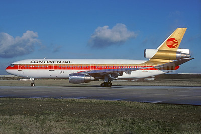 Continental Airlines McDonnell Douglas DC-10-30 N392EA (msn 47867) ORY (Jacques Guillem). Image: 932358.