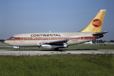 Continental Airlines Boeing 737-130 N403PE (msn 19020) {Peoplexpress colors) MDW (Ron Kluk). Image: 946999.