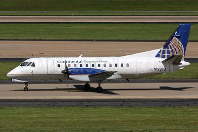 Continental Connection-Colgan Air (2nd) SAAB 340B N198CJ (msn 198) IAD (Brian McDonough). Image: 924715.