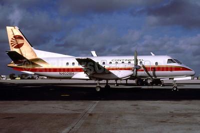 Continental Express-Bar Harbor Airlines SAAB 340A N402BH (msn 058) MIA (Bruce Drum). Image: 102498.