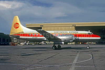 Continental Express-Rocky Mountain Airways Convair 580 N73106 (msn 7)  DEN (Christian Volpati Collection). Image: 941795.