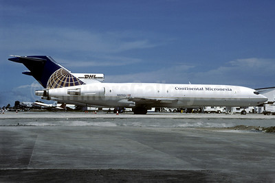 Continental Micronesia - DHL Boeing 727-264 (F) N625DH (msn 20780) GUM (Christian Volpati Collection). Image: 937351.